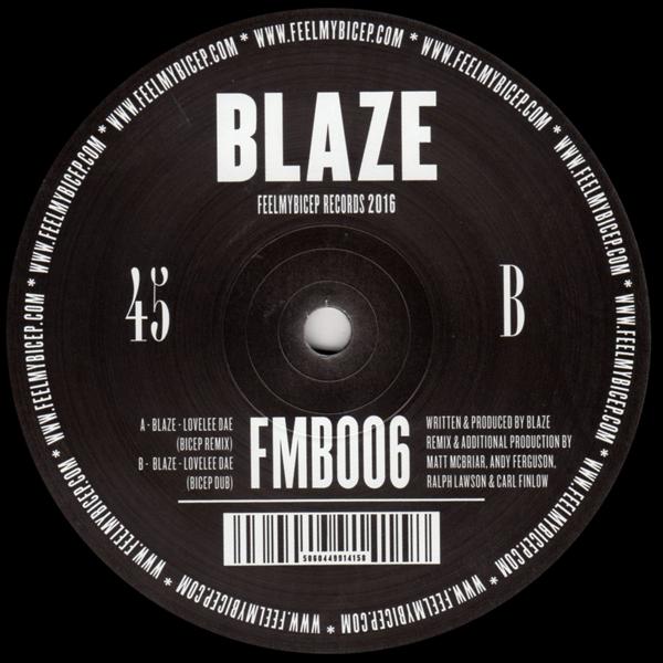 Blaze Lovelee Dae Bicep Remixes Feel My Bicep Vinyl