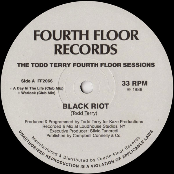Black riot todd terry masters at work the todd terry for Fourth floor records