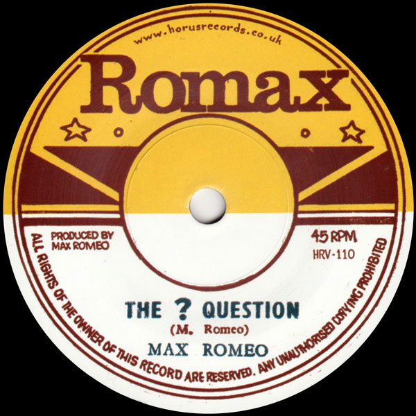 max-romeo-ron-wilson-the-question-rat-poison-horus-records-cover